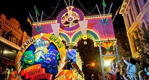 galveston island mardi gras festival parade