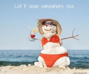 sand snowman winter on galveston island