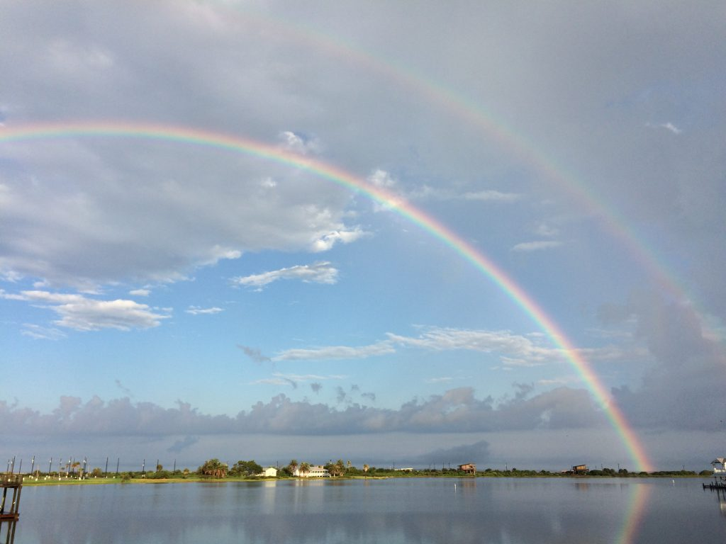 galveston island double rainbow
