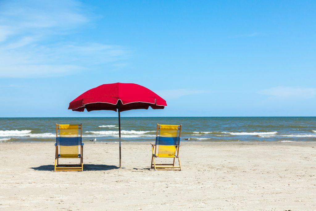 2 Chairs on Galveston Beach