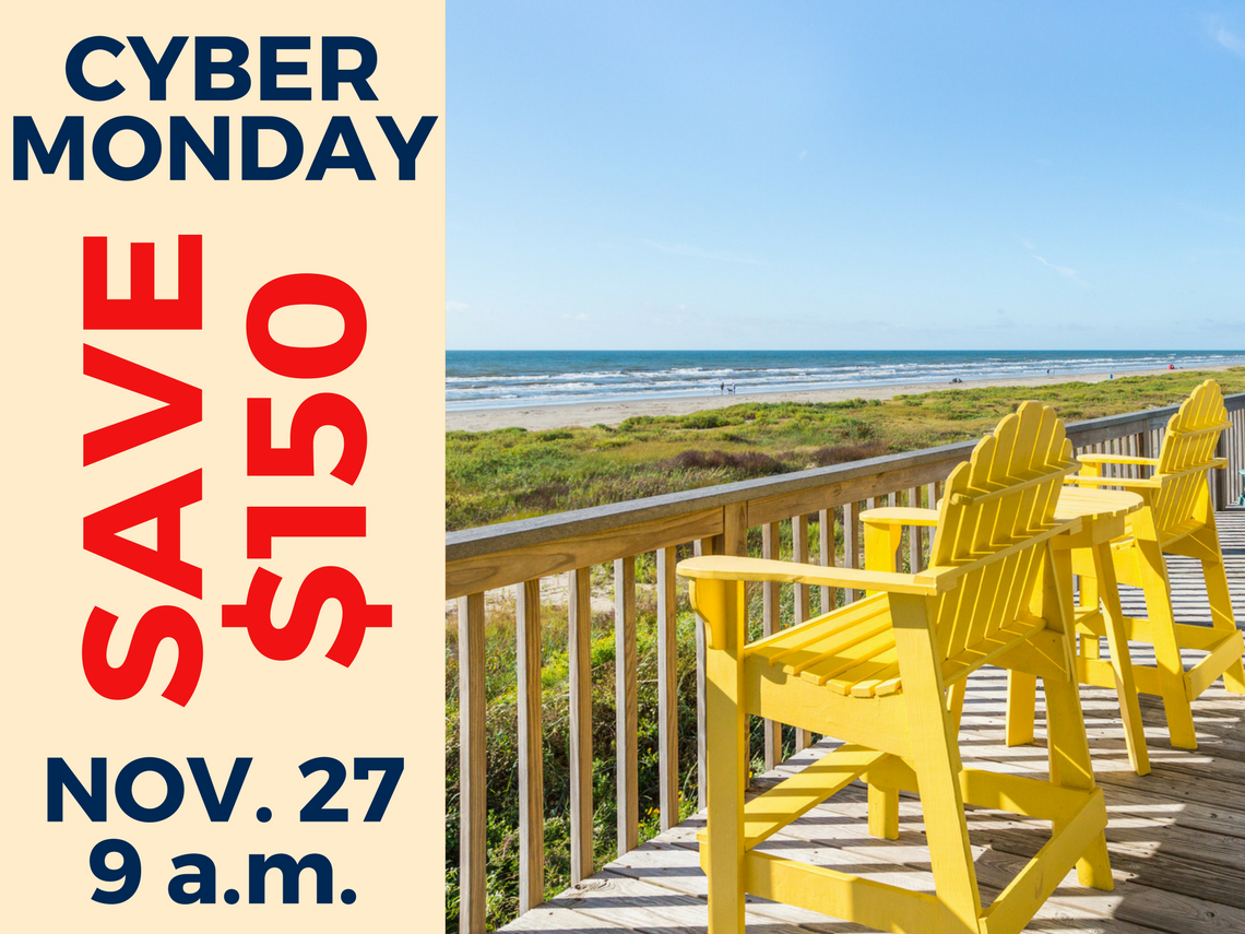 Vacation Rental Cyber Monday Galveston TX
