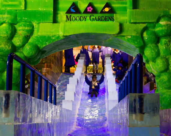 moody gardens ice slide galveston tx