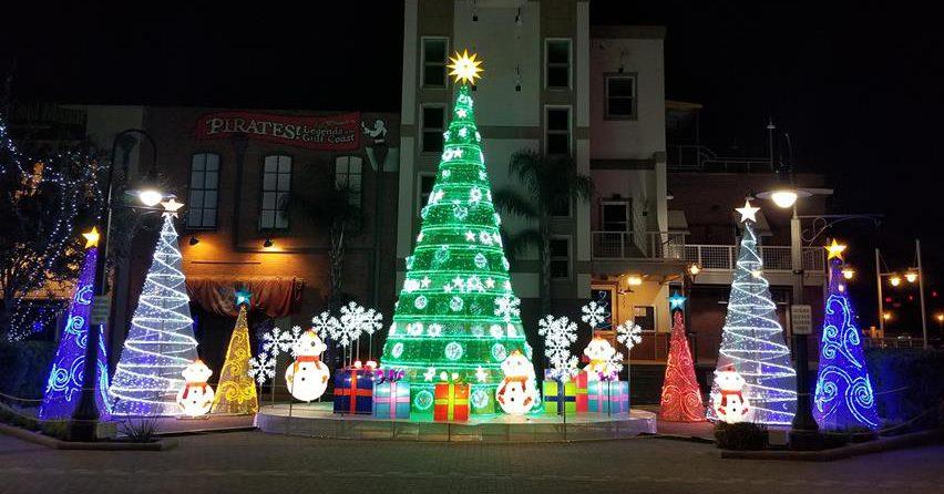 Lanterns & Lights in Saengerfest Park Christmas in Galveston