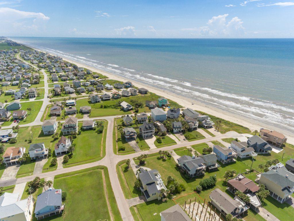 Galveston Isaland Drone Image