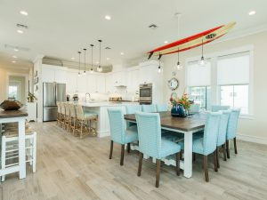 Galveston Vacation Rental Kitchen and Dining Room at Beachside