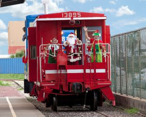 Santa Train with Elves Galveston TX