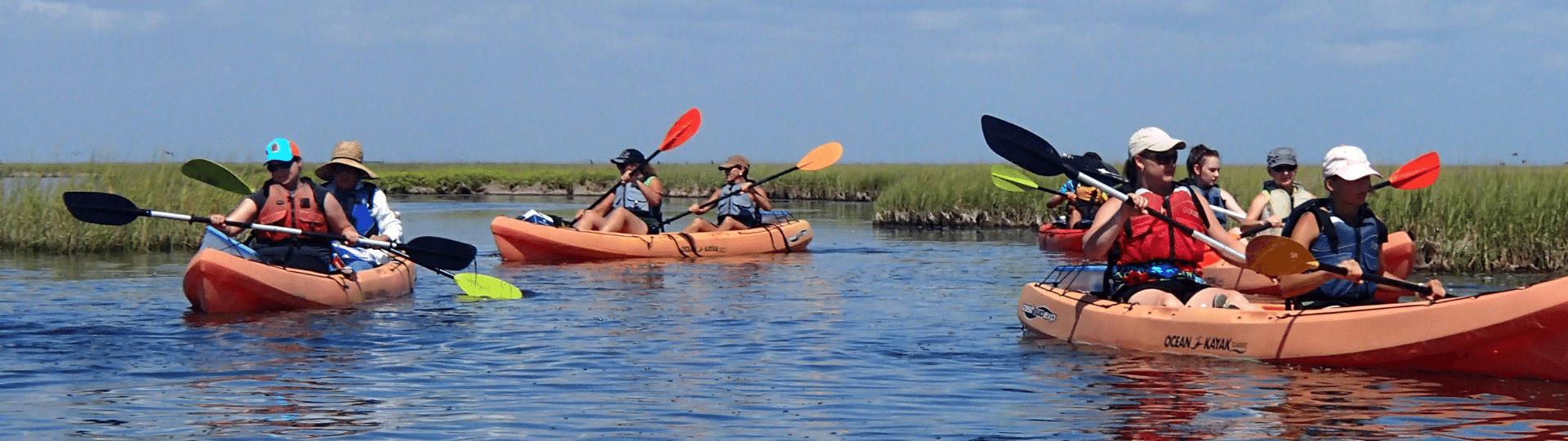 kayaking in Galveston TX