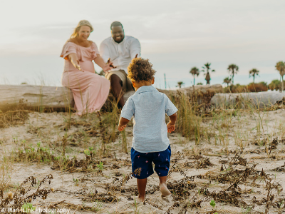 Galveston family photo with toddler - Plan-it Ink Photography