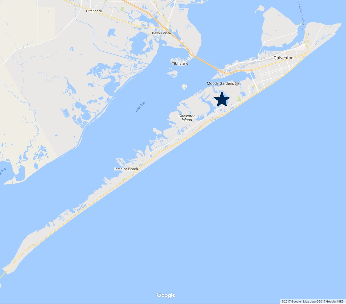 map of Galveston Island - Neighborhoods - Evia