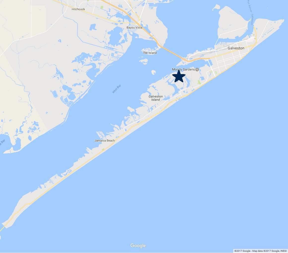 map of Galveston Island - Neighborhoods - Crash Boat Basin