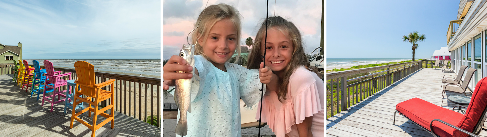 Beachfront decks, Fun for the Family, Great fishing