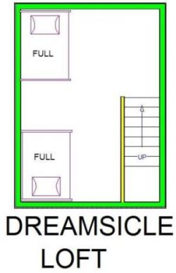 A level C layout view of Sand 'N Sea's beachfront house vacation rental loft in Galveston named Dreamsicle