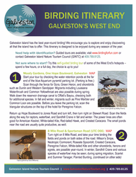 birding itinerary pdf for galveston west end