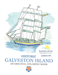 historic galveston island coloring book